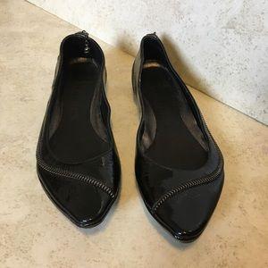 Alexander McQueen Shoes - Alexander McQueen black skull zipper flats 36.5